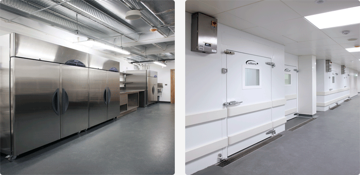 Cabinets and coldrooms at Waterfront, Belfast