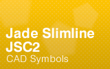 Jade Slimline Counter - JSC2 Cad Symbols.