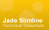 Jade Slimline Counter Technical Datasheet.