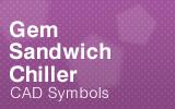 Sandwich Chiller CAD Symbols.