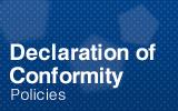 Declaration of Conformity.