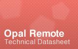 Opal Remote Datasheet.