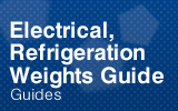 Electrical, Refrigeration, Weights.