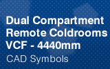 Dual Compartment Remote Coldrooms - 4440mm.