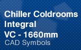 Chiller Coldrooms - Integral 1660mm.