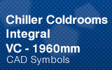 Chiller Coldrooms - Integral 1960mm.