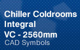 Chiller Coldrooms - Integral 2560mm.