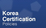 Korea Certification.