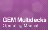 GEM Multideck Operating Manual.