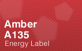 Amber - A135 Energy Label.