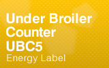 Under Broiler Counter - UBC5 - Energy Label.