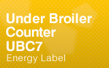 Under Broiler Counter - UBC7 - Energy Label.