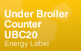 Under Broiler Counter - UBC20 - Energy Label.