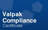 Valpak Compliance Certificate.