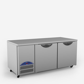 Emerald Two Door Gastronorm Refrigerated Counter - Side On