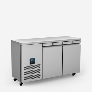 Jade Two Door Slimline Refrigerated Counter - Side On Elevated