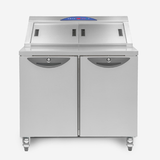 Front on CPC2 Refrigerated Prep counter with closed night cover