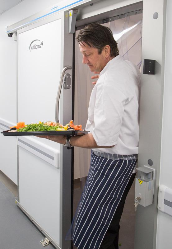 Sliding Door Opening at Professional Nursey Kitchen