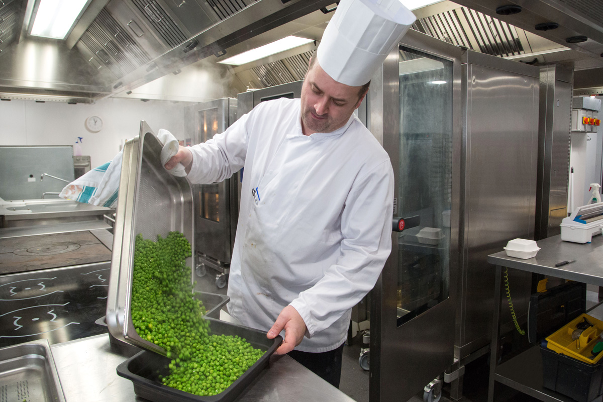 Chef at Work at Caledonian University