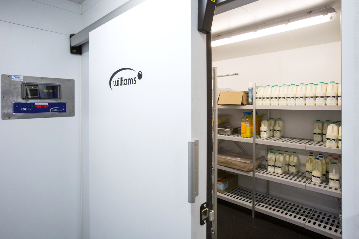 Inside Williams Coldroom at Caledonian University