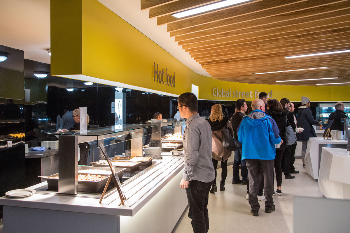 Servery area At Caledonian University