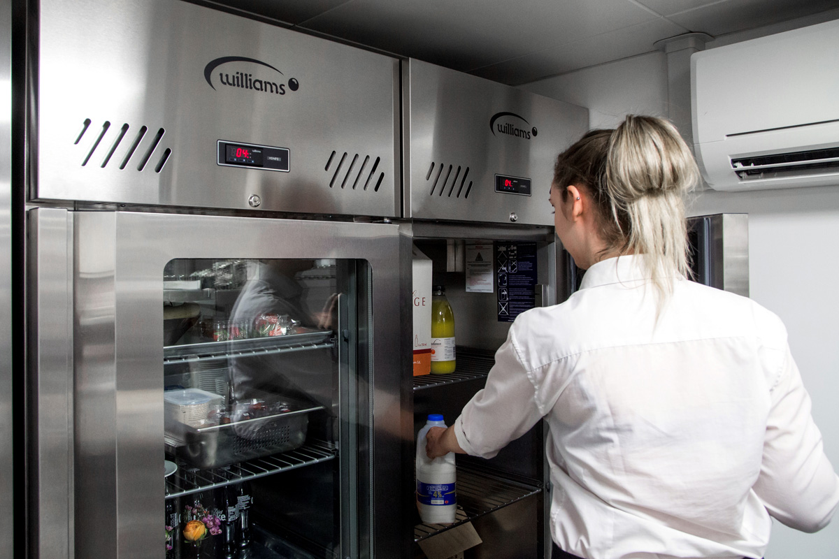 Jade Refrigeration Cabinets with Glass Door at Sea Containers