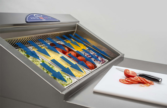 Pizza preparation airflow