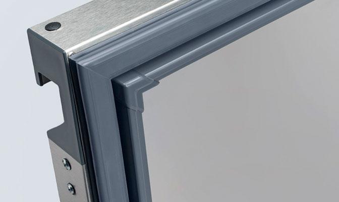 Door gasket welded corner