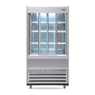 R100 Multideck with Sliding Front Doors - Doors Open Light On