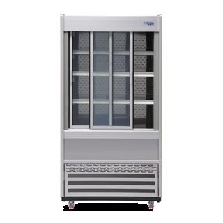 R100 Multideck with Sliding Front Doors - Doors Open Lights Off