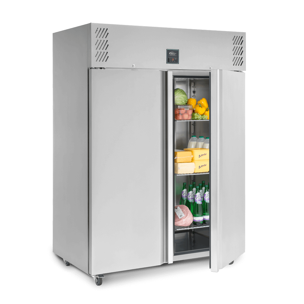 Jade Two Door Upright Refrigerated Cabinet - Stocked