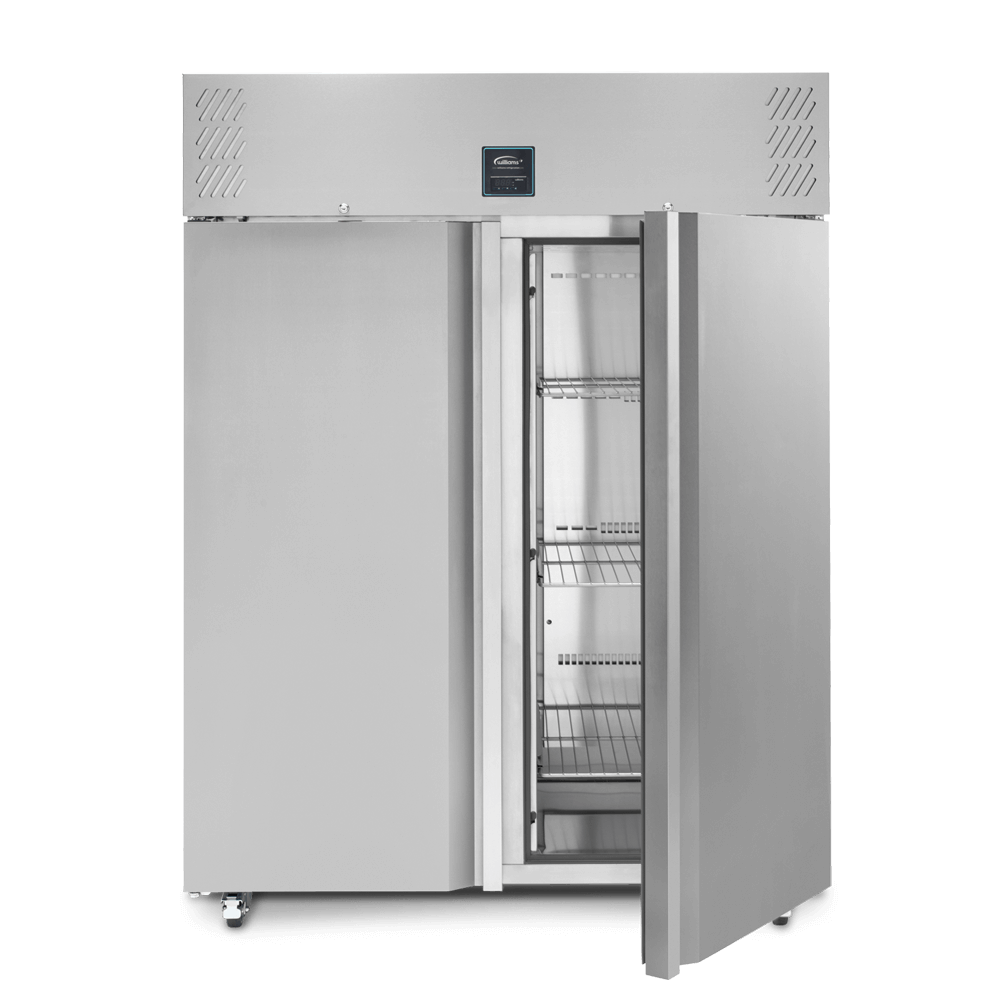 Jade Two Door Upright Refrigerated Cabinet - Open front on