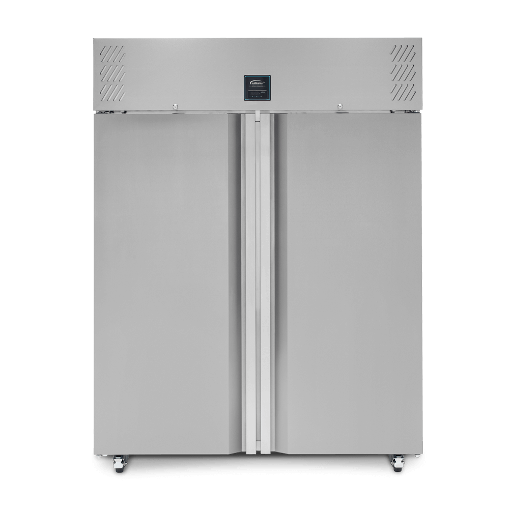 Jade Two Door Upright Refrigerated Cabinet - closed front on