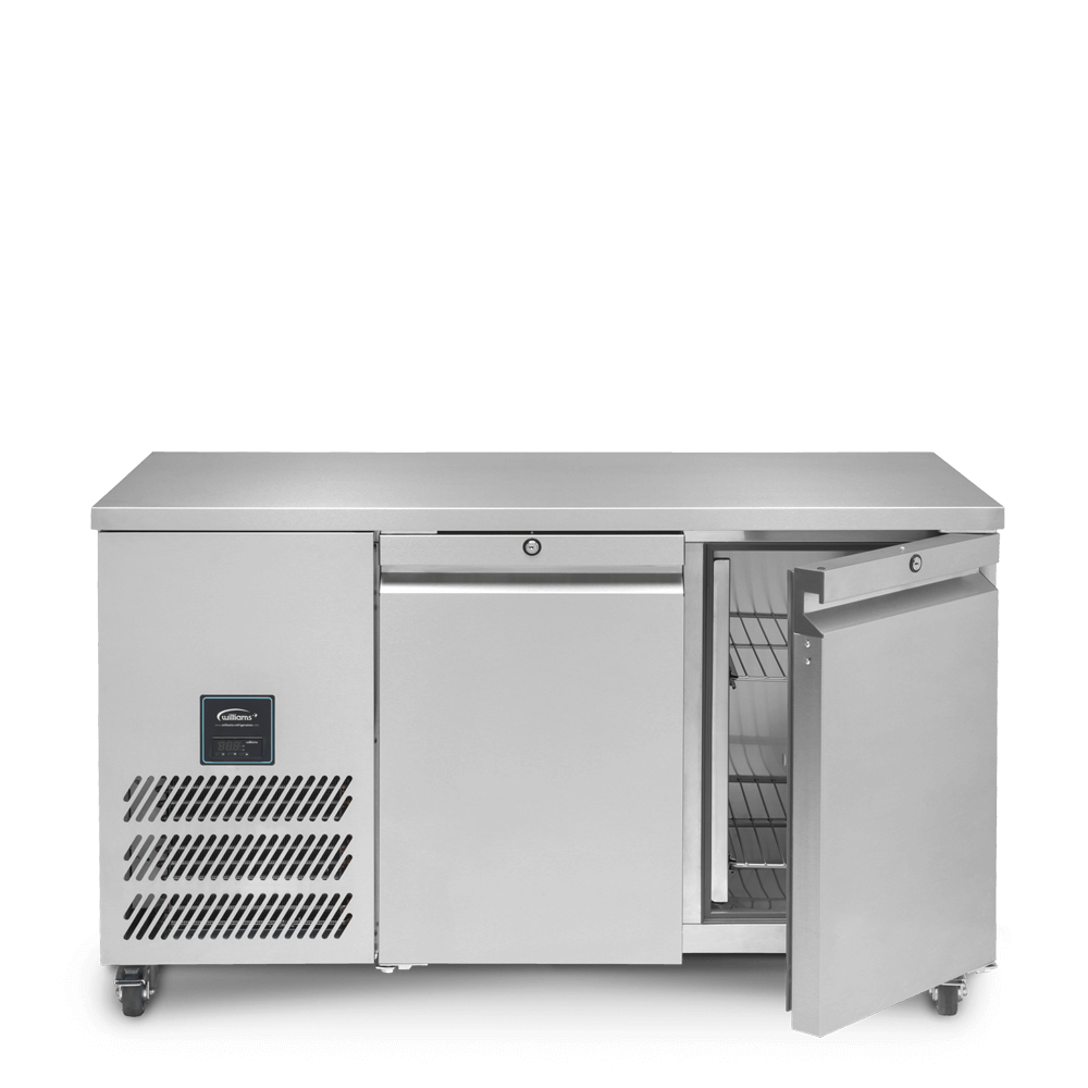 Jade Two Door Refrigerated Counter - Front On - Open - Empty