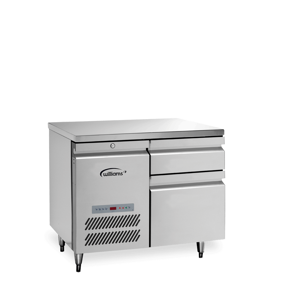 Opal One Door Counter with banks of two drawers