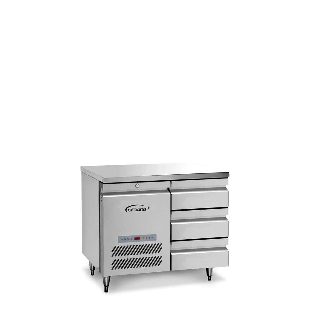 Opal One Door Counter with banks of three drawers