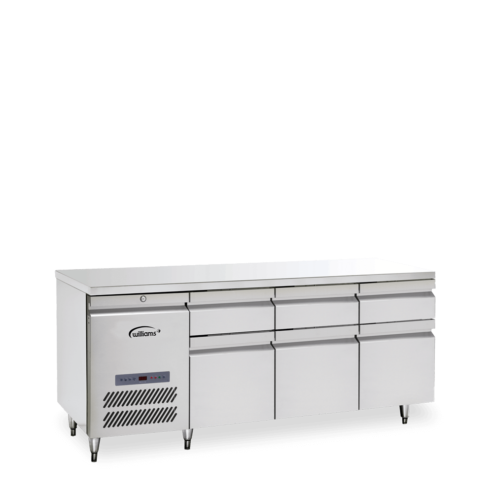 Opal Three Door Counter with Drawers
