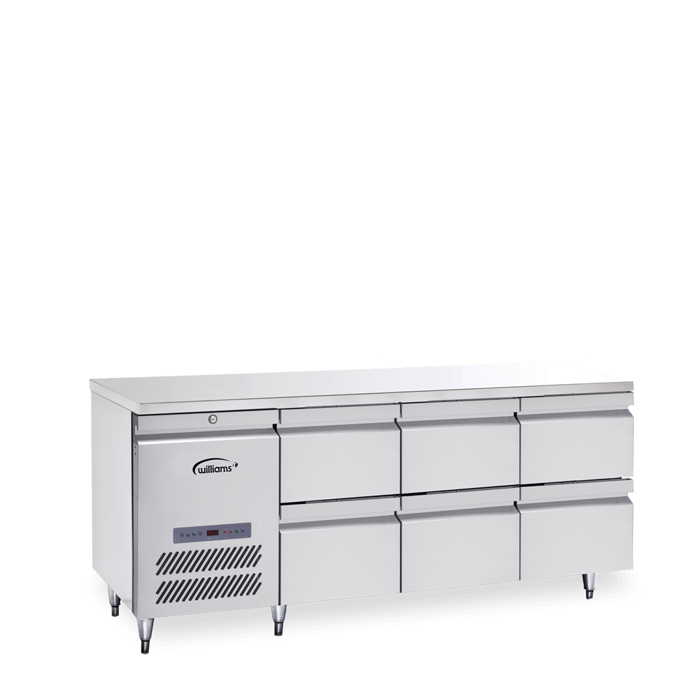 Opal Three Door Counter with bank of two drawers