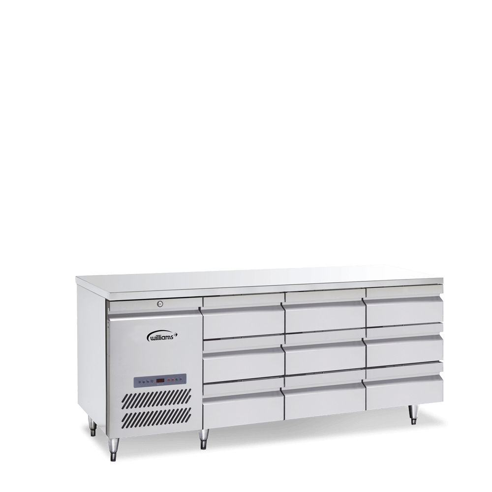 Opal Three Door Counter with bank of three drawers
