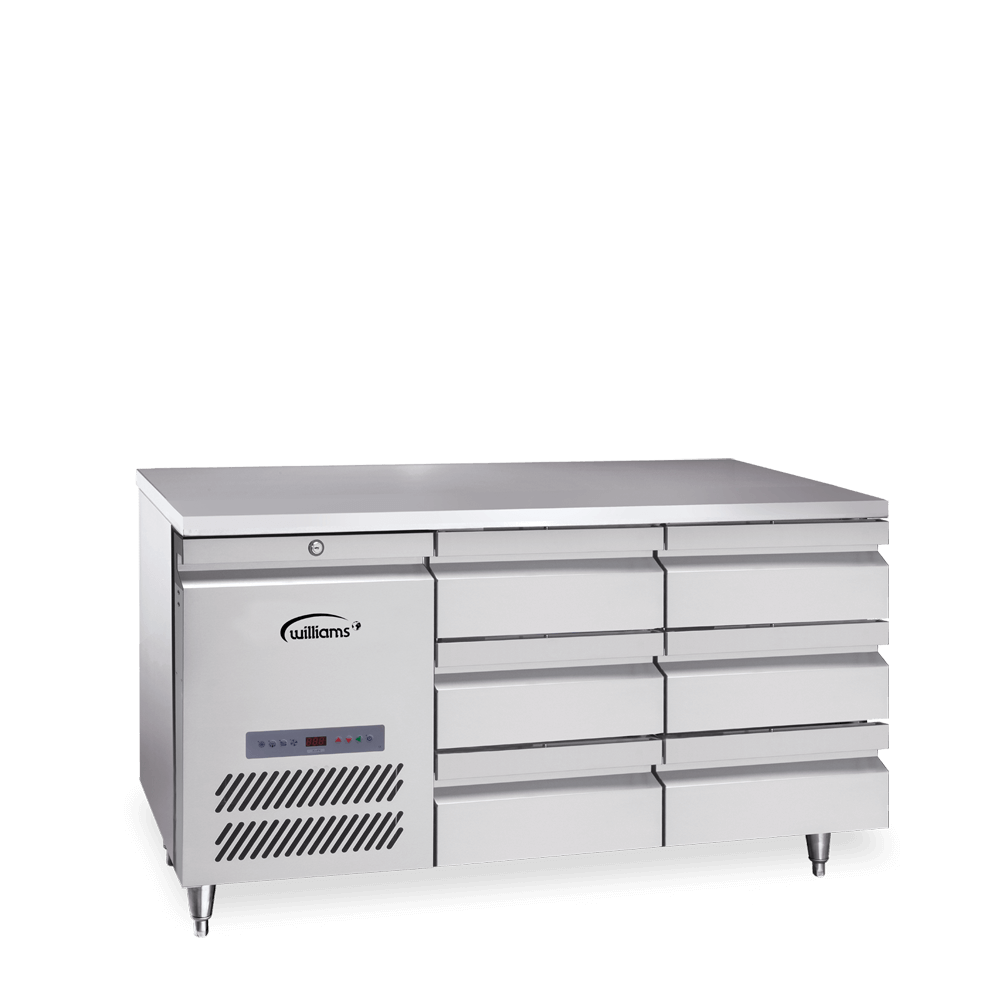 Opal Two Door Counter with bank of three Drawers