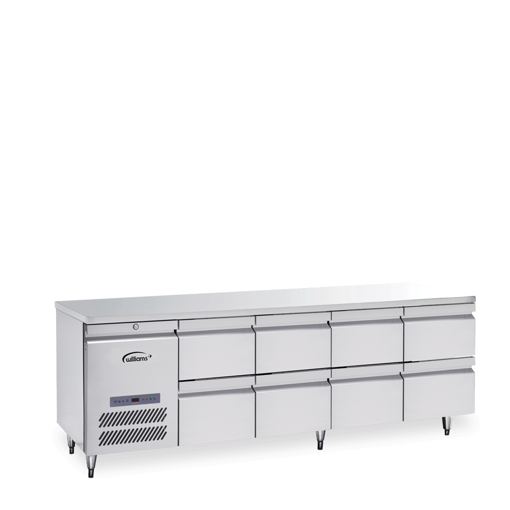 Opal Four Door Counter with a Bank of Two Drawers