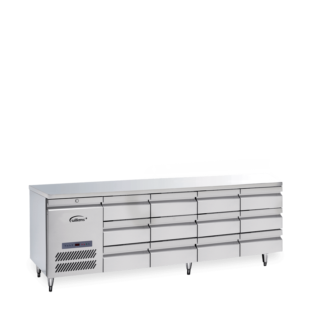 Opal Four Door Counter with a Bank of Three Drawers