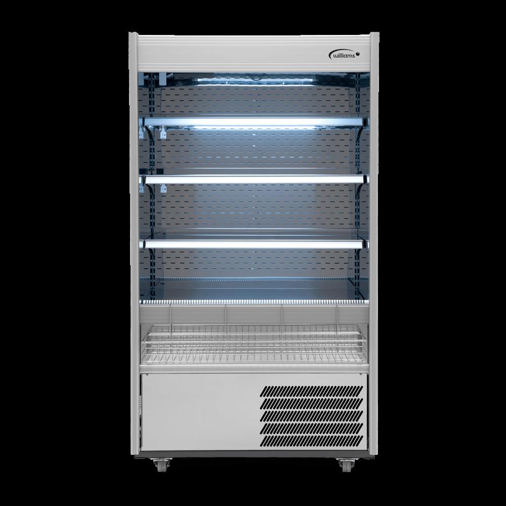 R100SCN - Refrigerated Multideck - Front On - Lit - Snack Basket