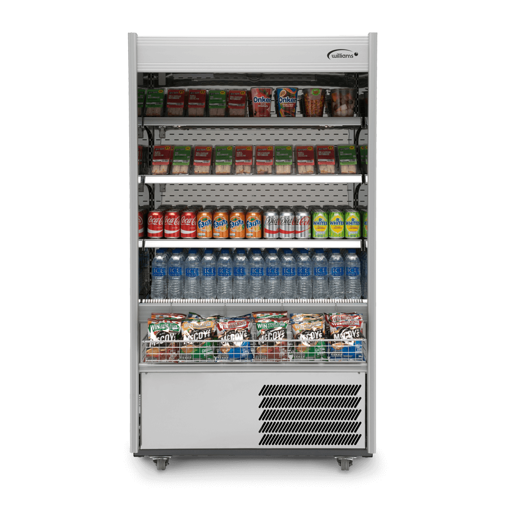 R100SCN - Refrigerated Multideck - Front On - Stocked - Snack Basket