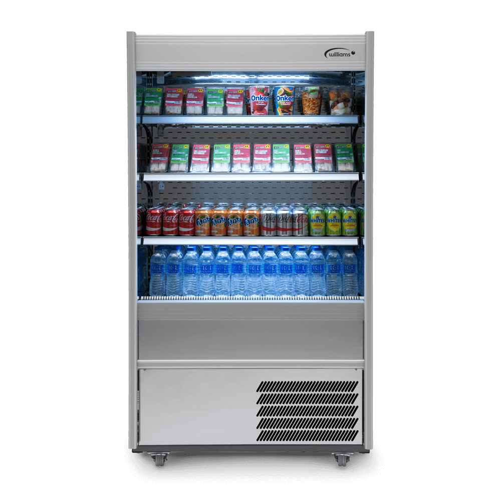 R100SCN - Refrigerated Multideck - Front On - Stocked - Lit