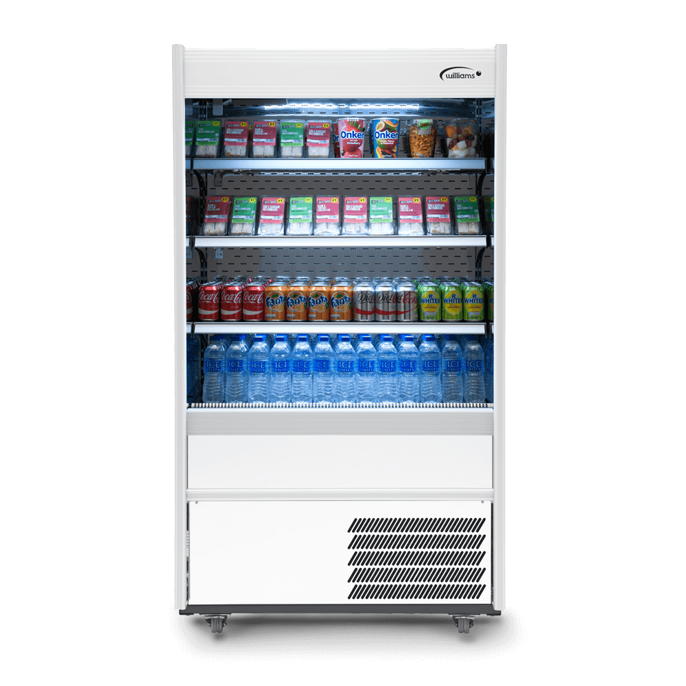 R100WCN - Refrigerated Multideck - Front On - Stocked - Lit