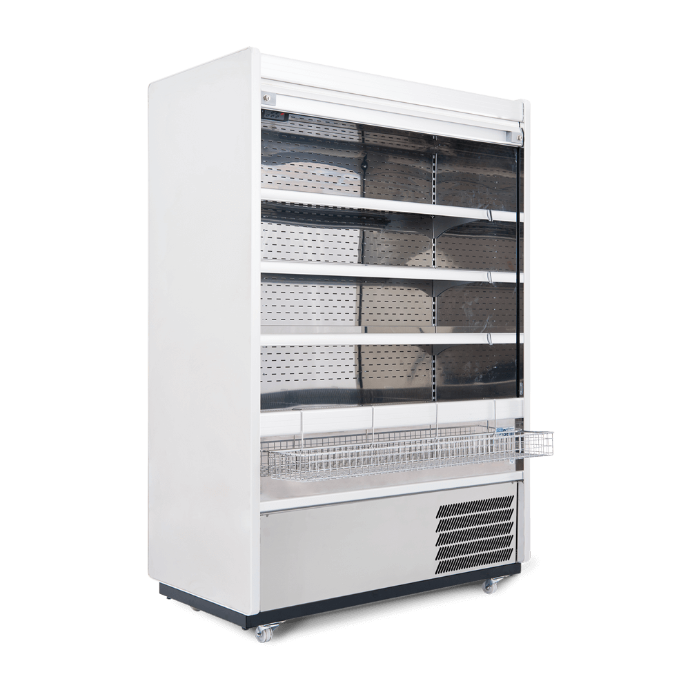 R125SCS - Refrigerated Multideck - Security Shutter - Snack Basket - Side On