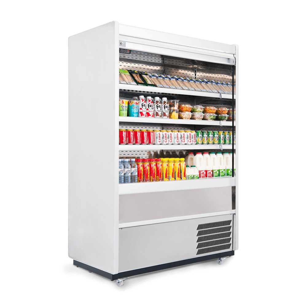 Refrigerated Multideck - Security Shutter - Stocked - Side On