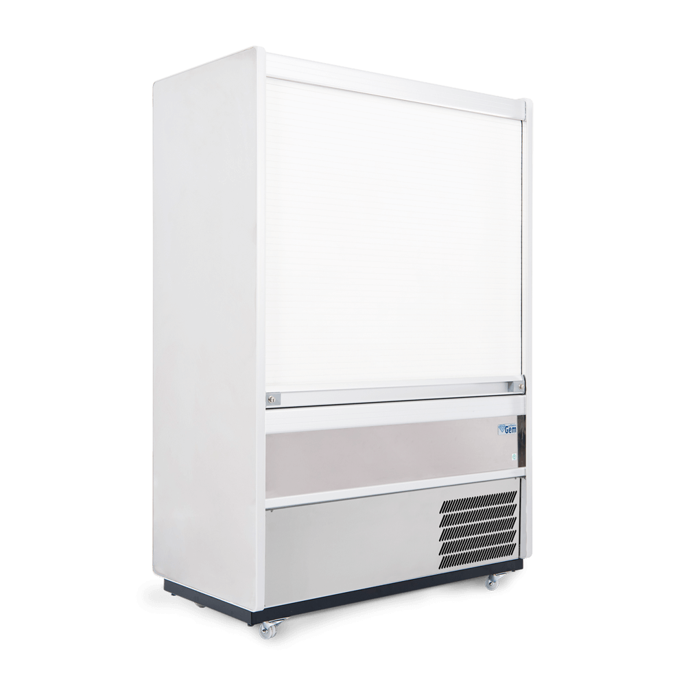 R125SCS - Refrigerated Multideck - Security Shutter Closed - Side On