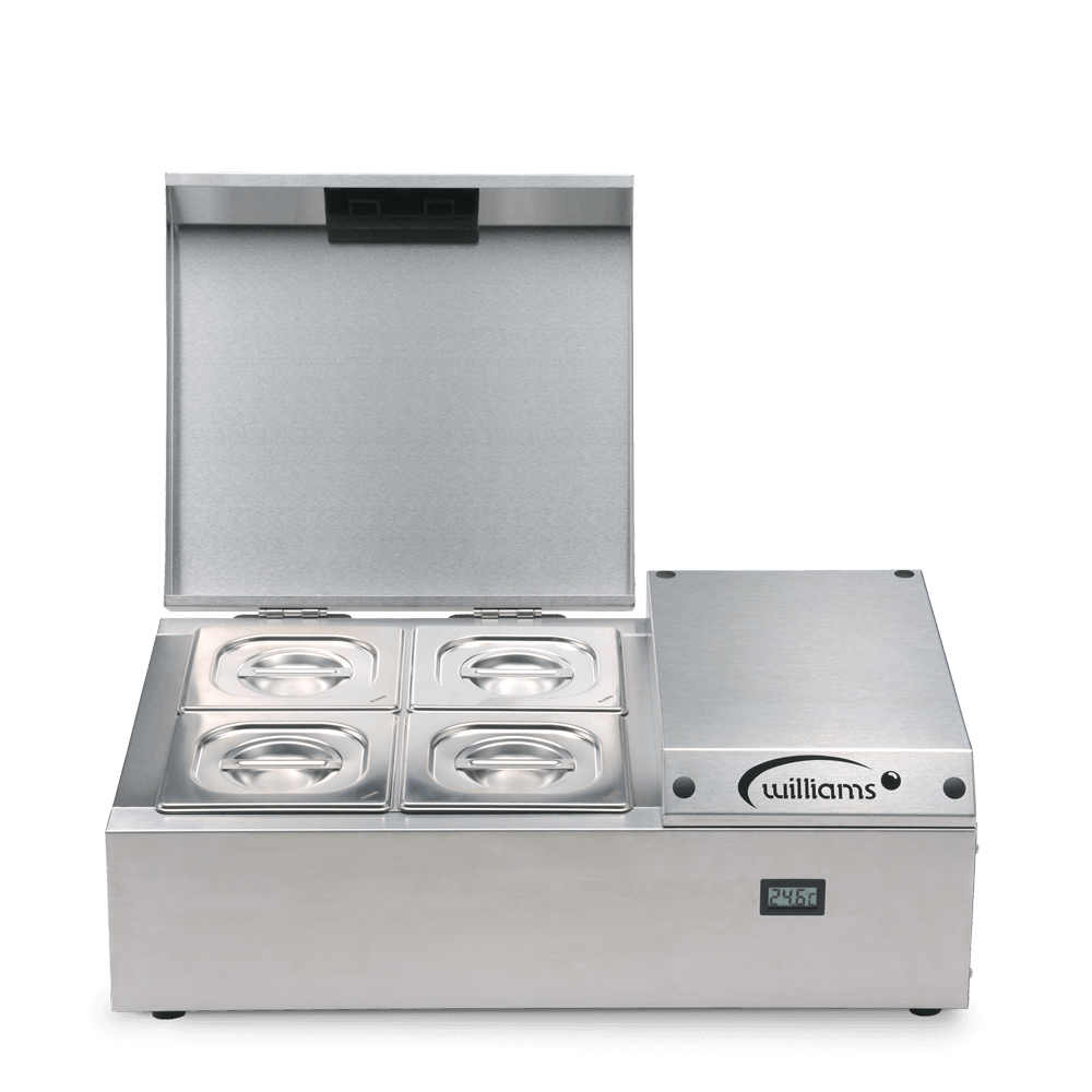 Counter Top Refrigerated Thermowell - TW4 - Front on Pans Closed